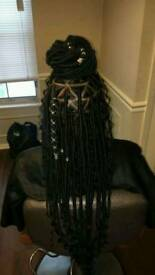 Triangle braids, Fauxlocs braids starting from £50