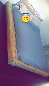 Custom made low profile bed frame