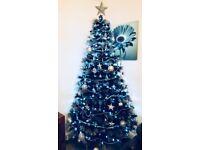 7ft black/silver Christmas tree