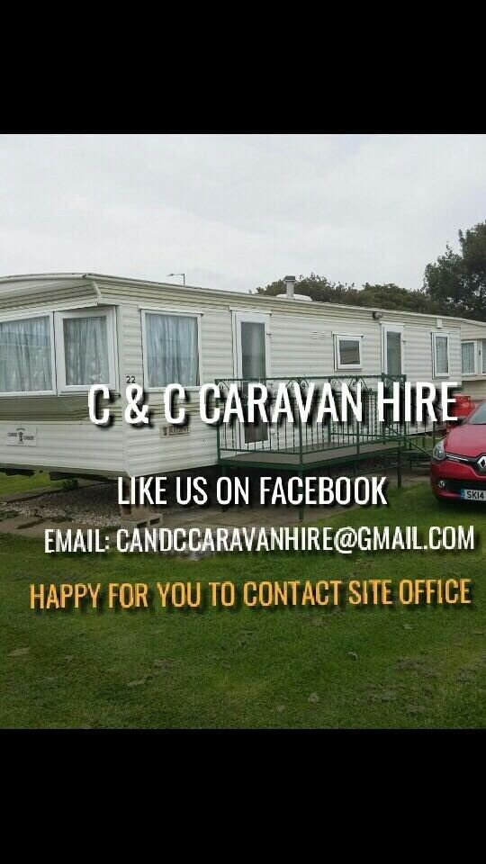 Caravan to let on sealands