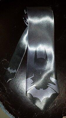 L@@K! Batman Steel Gray Necktie - Joker Catwoman Bat Man - Joker Tie