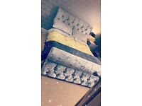 New Crushed Velvet Double Bed