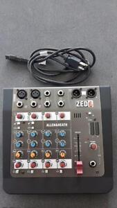 Mixer console Zed 6 Usagé Allen & Heat 70$ plus tx