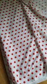 17 meters 45 inch wide cotton fabric. New