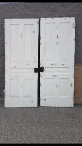 2 vintage rustic doors - perfect for a backdrop for any occasion