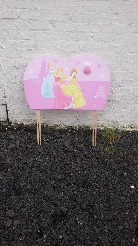 Disney princess single bed headboard with night light built in