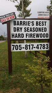 BARRIE'S BEST DEALS on DRY HARD CAMPFIRE WOOD OPEN TUESDAY