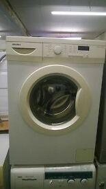 white bush 6kg 1400 spin digital display washing machine