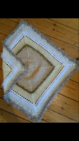 knitted baby blanket by Sparkle Shawls