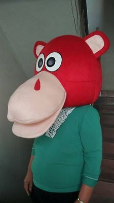 Hippo Mascot Costume Halloween Party Outfit (Only Head) Fancy Dress Animal Adult - Halloween Party Adults Only