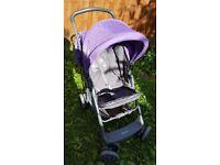 Lorelli Dandelion Pushchair/Pram in Purple with shopping tray and hood
