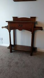 Rare Antique Arts and Crafts Hall Stand by Wylie and Lochhead of Glasgow