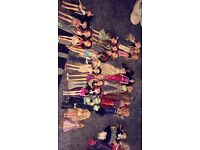 26 Barbie and Bratz Dolls and clothes and household accessories