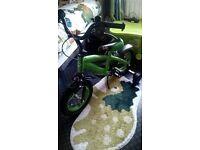 12inch boys green bike new