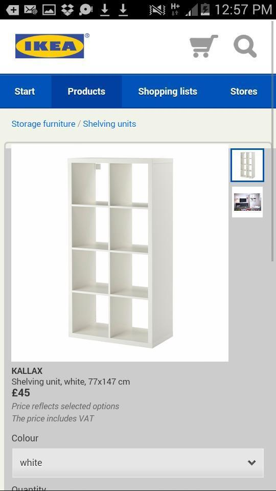 Second Hand 8 Ikea Bookcase White And Oak 2x4 And 4x4
