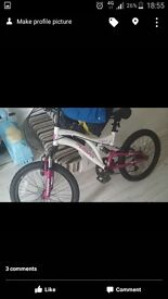 Girls 20 inch pedal bike