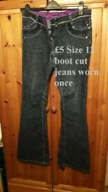 Size 12 boot cut jeans worn once