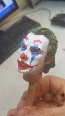 Joker Head (custom painted joaquin phoenix joker head for 12 inch)