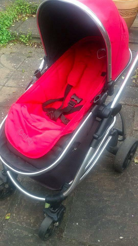 Icandy Strawberry Footmuff Icandy Strawberry Pram With