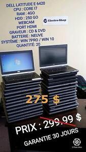 Lot Laptop Dell Latitude E6420, E6320, E6510 Intel Core i7 et i5