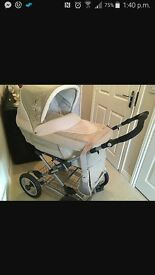 Limited addition silver cross pram