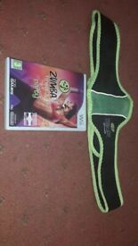 Wii zumba game with belt