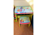 RRP £60 Disney Winnie the Pooh table desk and chair in very good condition