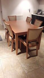 5 x 3 table & 6 chairs great condition
