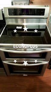 ECONOPLUS LIQUIDATION CUISINIERE KITCHENAID INOX DOUBLE FOUR TAXES INCLUSES