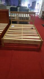 brand new Core Products Corona Antique Wax Pine 4'6 double Bed frame