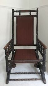 victorian american rocking chair 1900