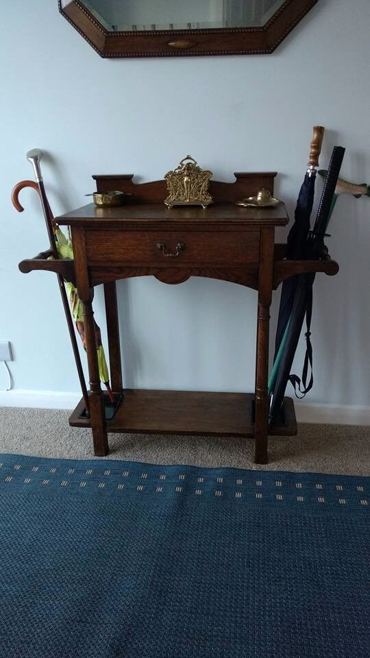 Antique Arts and Crafts Hall /Umbrella Stand by Wylie and Lochhead of Glasgow