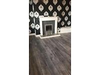 8mm grey and charcoal laminate floor bundle 5x4 20m2 fully fitted £320