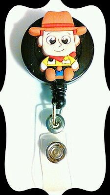 NEW BABY SHERIFF WOODY TOY STORY ID Badge Retractable Reel Handmade NURSE](Woody Sheriff Badge)