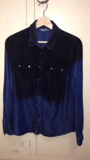 MNG Medium Ombré Jean Denim Look long sleeve Casual Shirt Collar