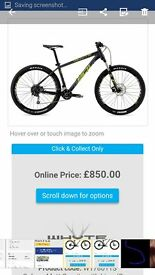 2016 whyte 801 mountain bike in excellent condition - swop for chris boardman bike