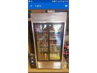 Commercial double door Pepsi Fridge