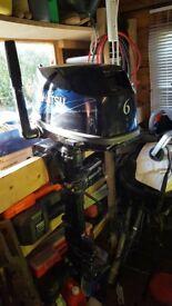 Tohatsu 6hp short shaft, outboard