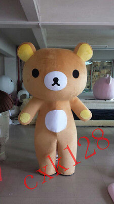 Brown Bear Rilakkuma Japanese Anime Mascot Costumes Cartoon Character Adult Size