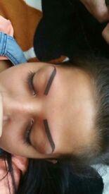 Permanent makeup tattoos and eyelash extension