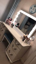Leekes Bedroom Furniture - Dressing Table, ONE Bedside Table and Mirror