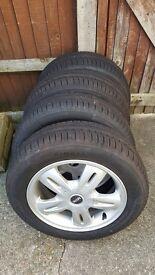 new Tyres pirelli cinturato P1 175/65 R15 + alloy wheels