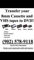 Transfer your home videos to DVD or USB!!