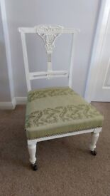 Antique Victorian Painted Nursing / Occasional Chair