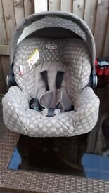 Greco baby car seat/rocker with hood