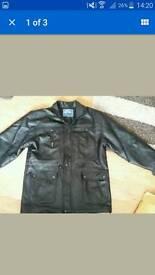 Mens XXL faux leather jacket