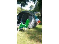 Regatta 4 man tent plus x2 camping chairs