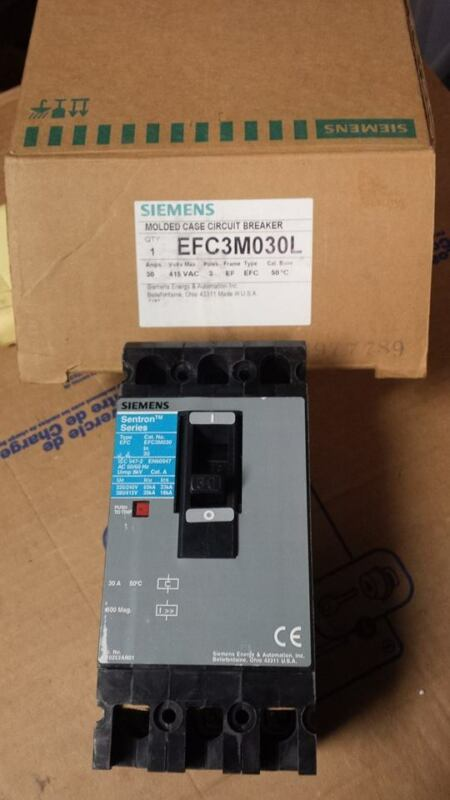 SIEMENS EFC3M030L CIRCUIT BREAKER   B22