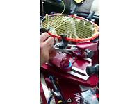 Badminton Racket / Racquet stringing restring service Leicester Yonex Victor Carlton Apacs Ashaway