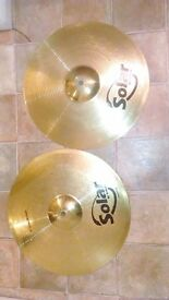 Sabian Hi Hats and ride cymbal + snare drum